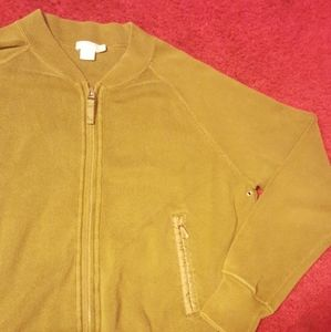 Vintage J Crew Sweater womens Small Olive Full Zip